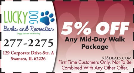 5 off any mid day walk package swansea il